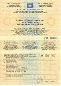régi típusú belga forgalmi engedély